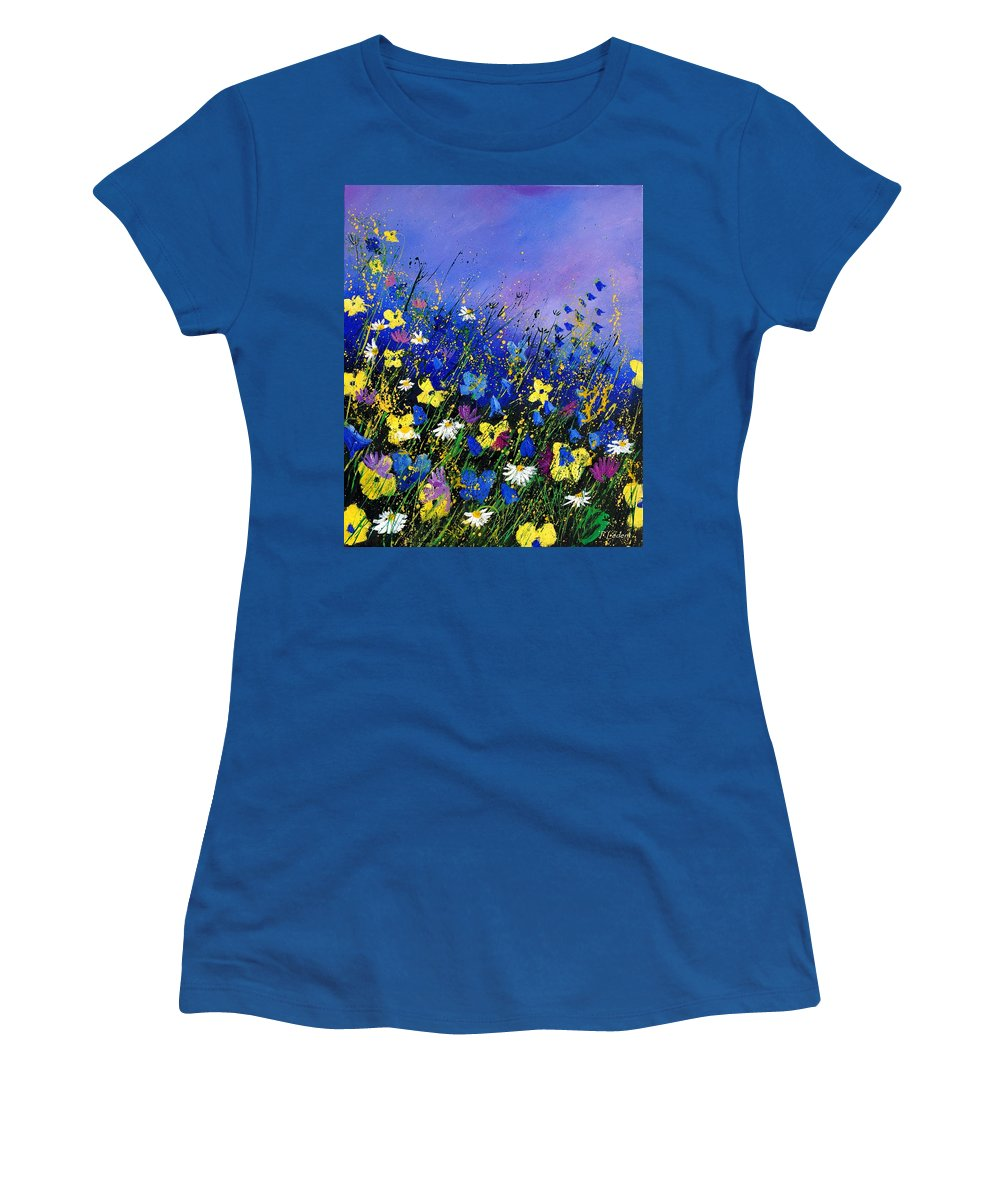 Flowers Women's T-Shirt featuring the painting Wild Flowers 560908 by Pol Ledent