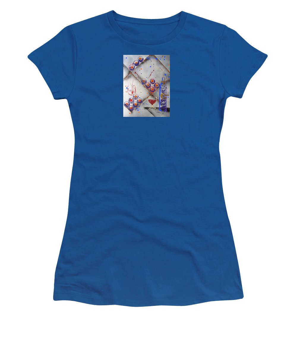 Impressionist Painting Women's T-Shirt (Athletic Fit) featuring the painting Wine Connoisseur by J R Seymour