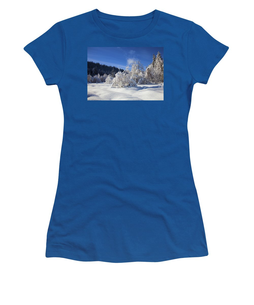 Snow Women's T-Shirt featuring the photograph Winter Blanket by Mike Dawson
