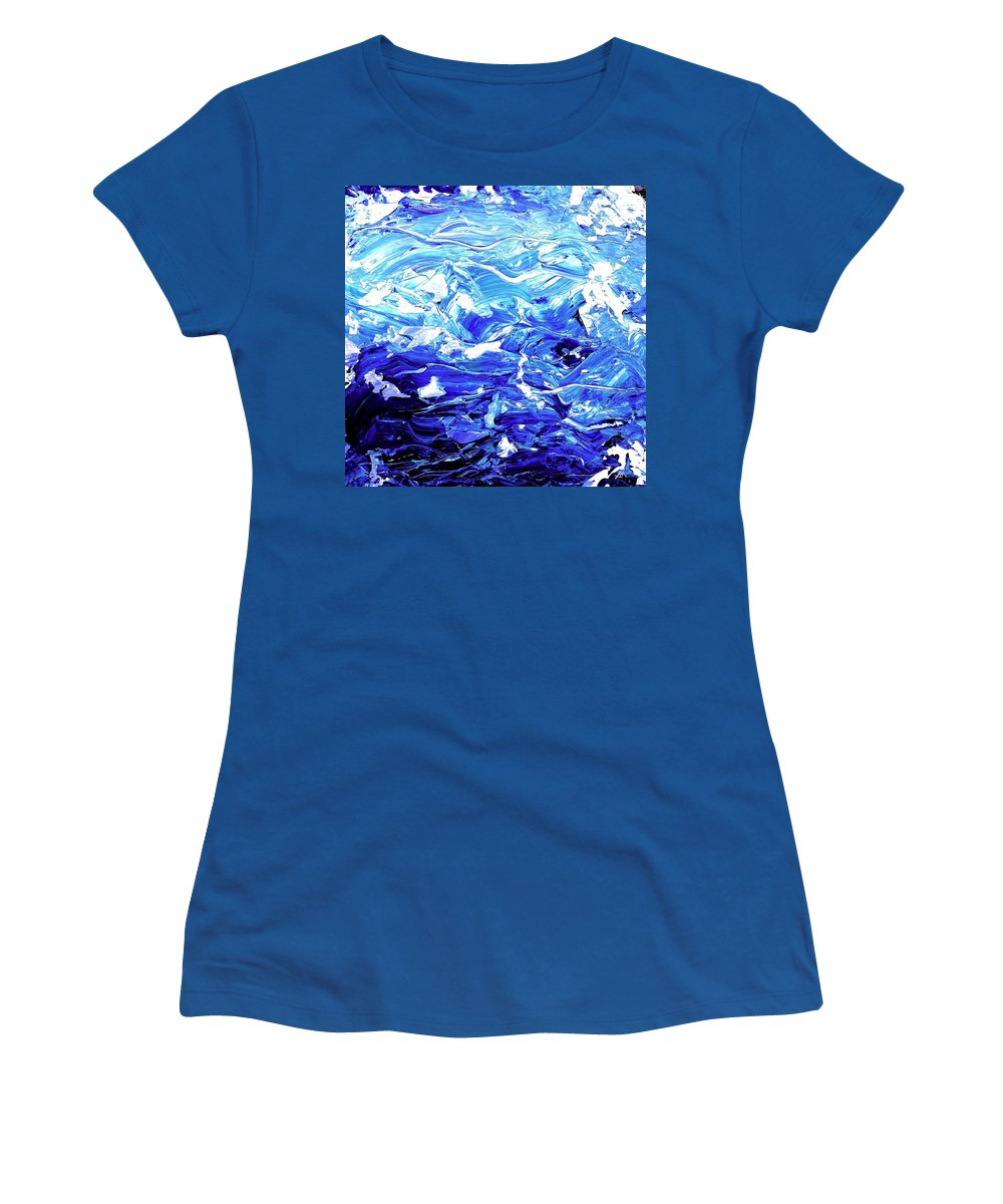Abstract Women's T-Shirt featuring the digital art Abstract Map by Linda Mears