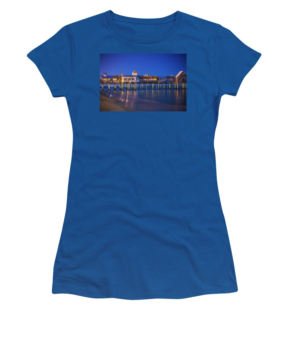 Pier Women's T-Shirt featuring the photograph Old Orchard Beach Pier by Trevor Slauenwhite