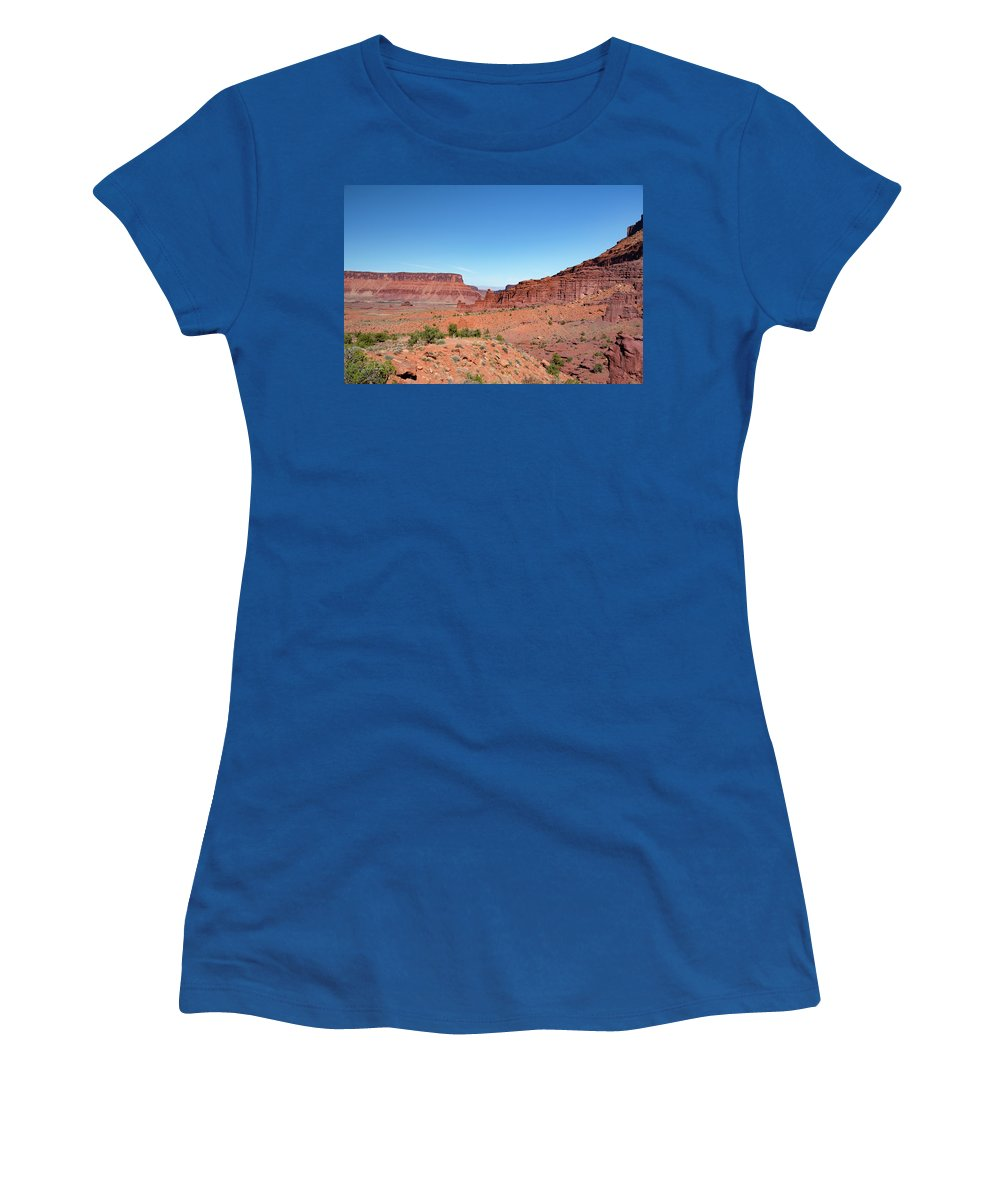 Fisher Towers Women's T-Shirt featuring the photograph Wild Utah Landscape by Jim Thompson