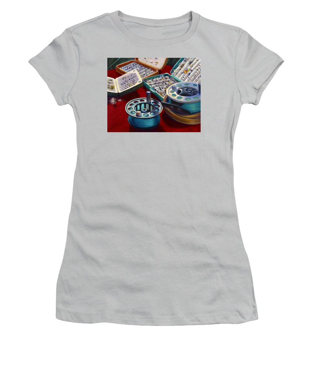 Still Life Women's T-Shirt (Athletic Fit) featuring the painting A Howard Runs Through It by Shannon Grissom