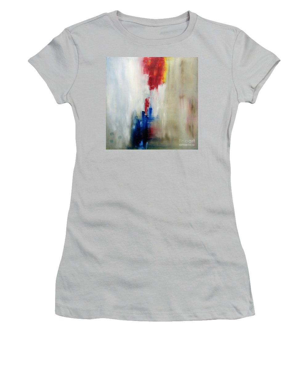 Abstract Painting Women's T-Shirt (Athletic Fit) featuring the painting C-15 by Jeff Barrett