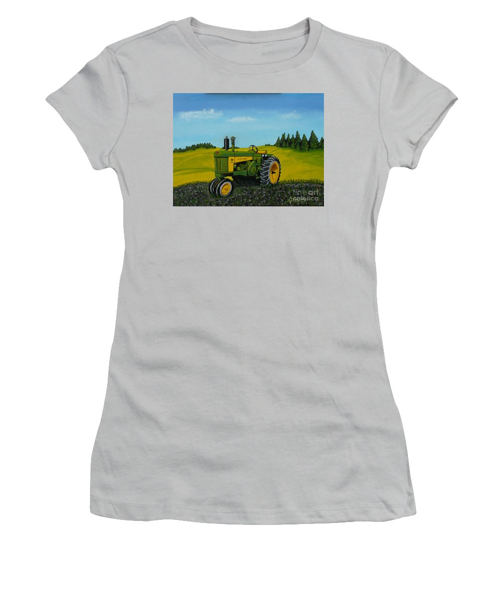 John Deere Women's T-Shirt (Athletic Fit) featuring the painting Dear John by Anthony Dunphy