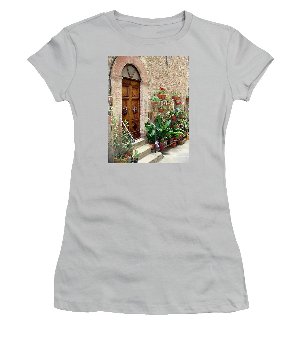 Front Door Women's T-Shirt (Athletic Fit) featuring the photograph Front Door by Ellen Henneke