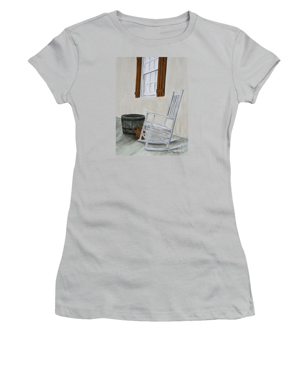 Americana Women's T-Shirt (Athletic Fit) featuring the painting Lazy Day by Regan J Smith