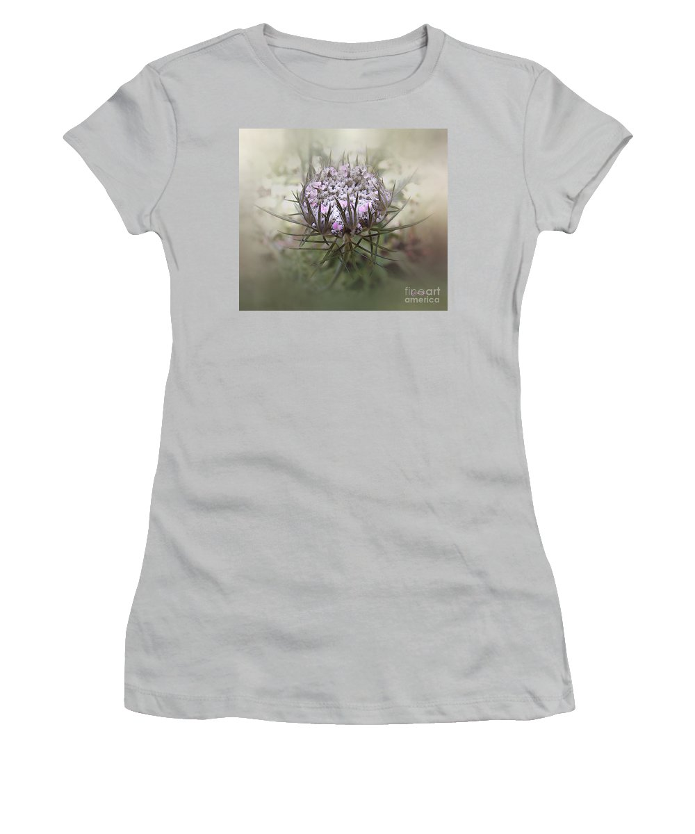 Queen Anne's Lace Women's T-Shirt (Athletic Fit) featuring the digital art Queen Of The Mist by RC DeWinter