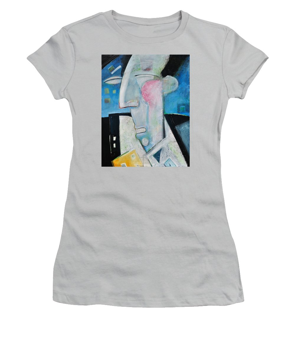 Jazz Women's T-Shirt (Athletic Fit) featuring the painting Jazz Face by Tim Nyberg