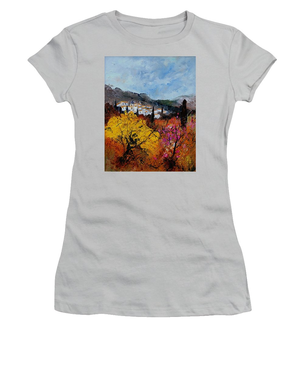 Provence Women's T-Shirt (Athletic Fit) featuring the painting Provence by Pol Ledent