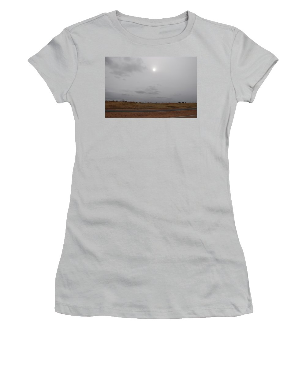 Desert Women's T-Shirt (Athletic Fit) featuring the photograph Sunset In The Desert by Rob Hans