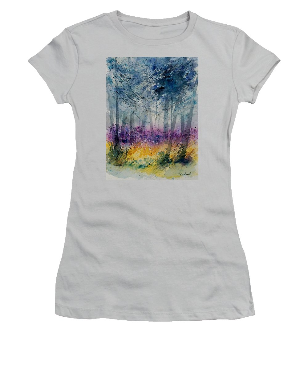 Flowers Women's T-Shirt (Athletic Fit) featuring the painting Watercolor 130608 by Pol Ledent