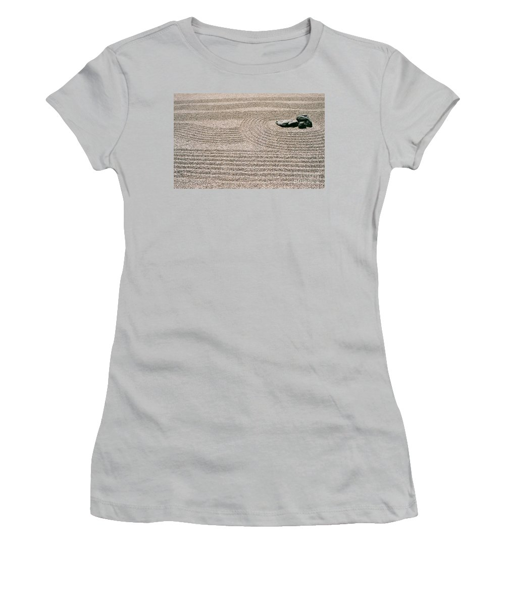 Zen Women's T-Shirt (Athletic Fit) featuring the photograph Zen Garden by Dean Triolo