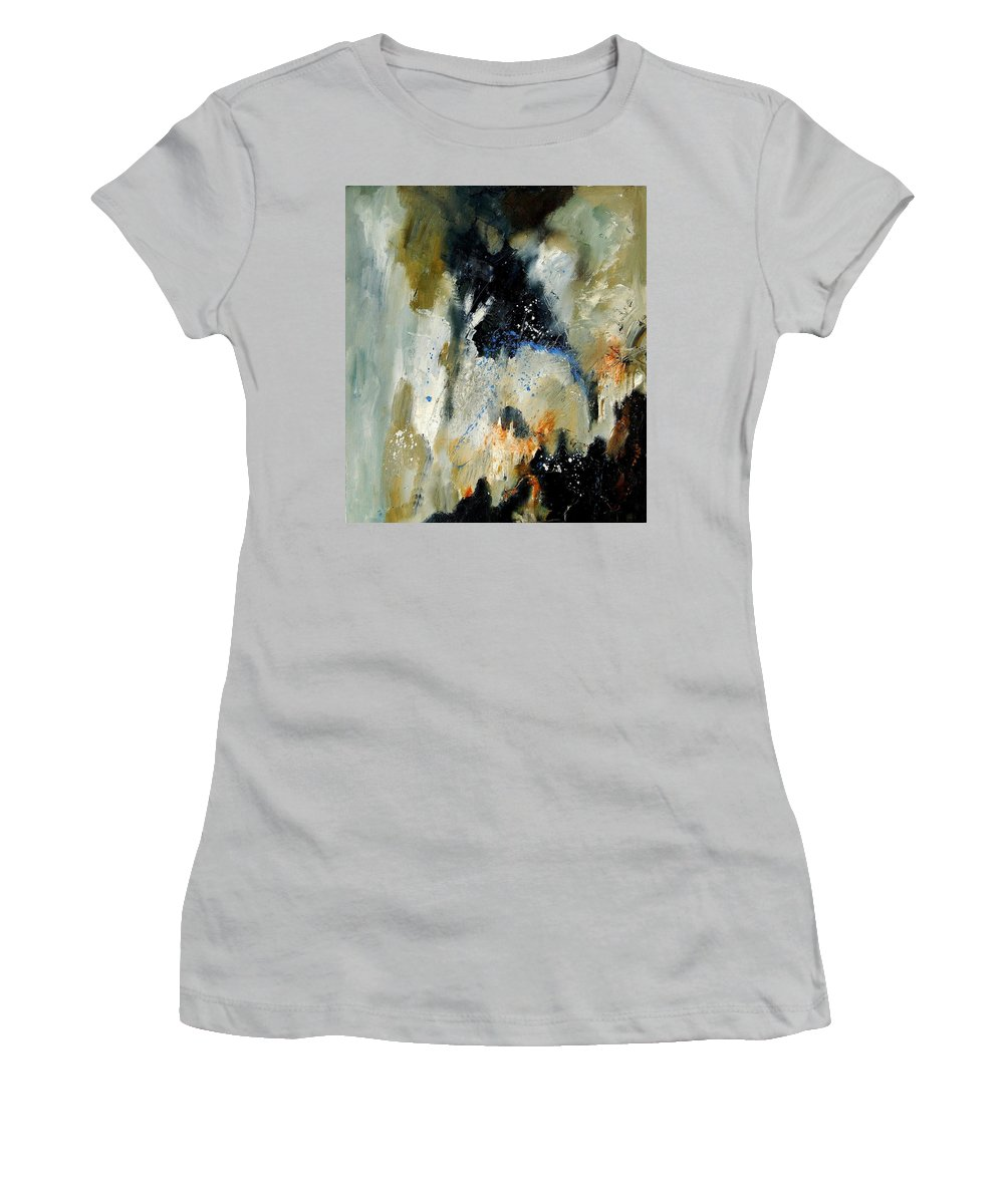 Abstarct Women's T-Shirt (Athletic Fit) featuring the painting Abstract 070808 by Pol Ledent