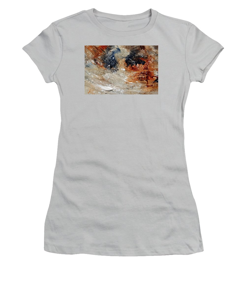 Abstract Women's T-Shirt (Athletic Fit) featuring the painting Abstract 1236 by Pol Ledent
