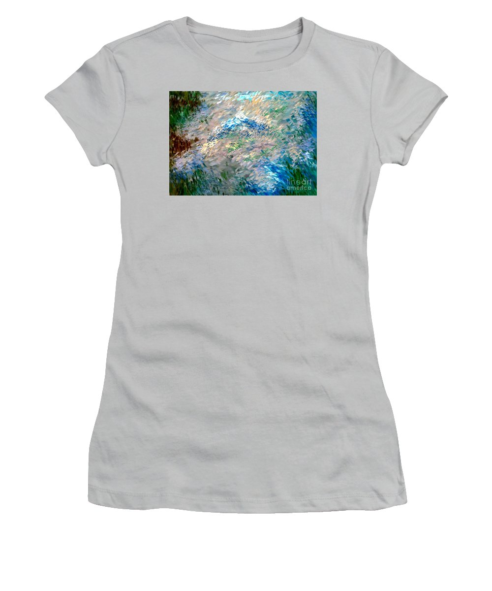 Abstract Women's T-Shirt (Athletic Fit) featuring the digital art Abstract 6-03-09 A by David Lane
