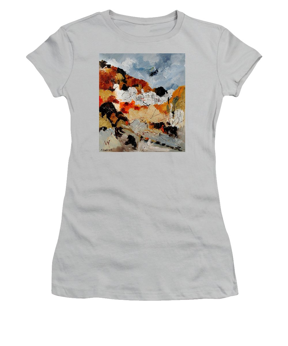 Abstract Women's T-Shirt (Athletic Fit) featuring the painting Abstract 780708 by Pol Ledent