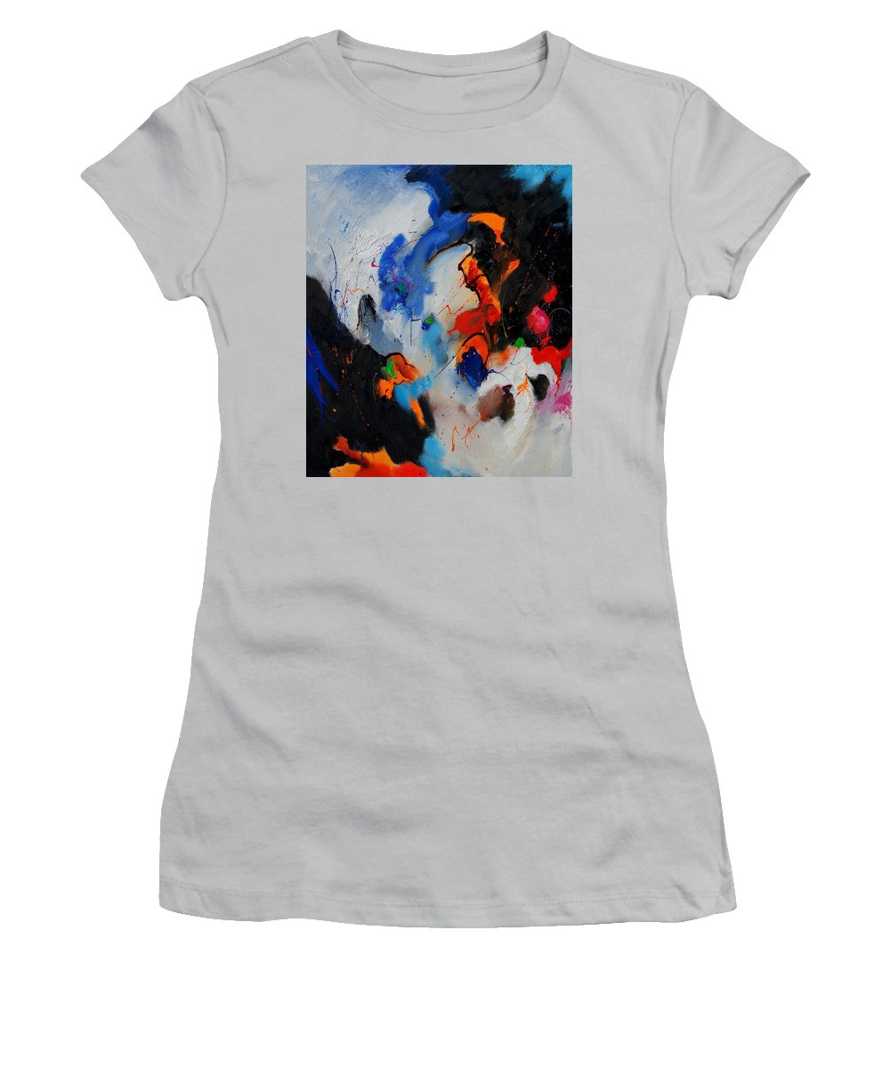 Abstract Women's T-Shirt (Athletic Fit) featuring the painting Abstract 905060 by Pol Ledent