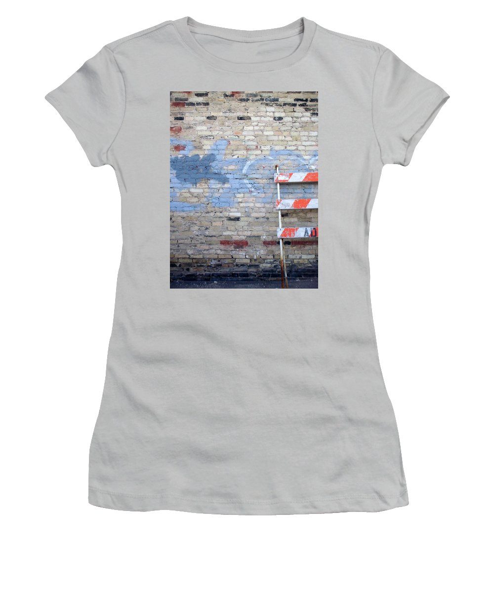 Industrial Women's T-Shirt (Athletic Fit) featuring the photograph Abstract Brick 2 by Anita Burgermeister