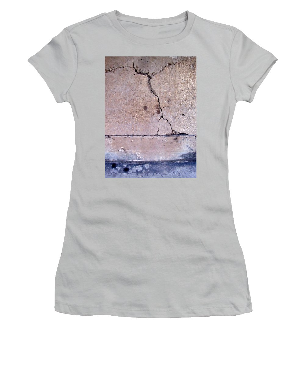 Industrial. Urban Women's T-Shirt (Athletic Fit) featuring the photograph Abstract Concrete 3 by Anita Burgermeister