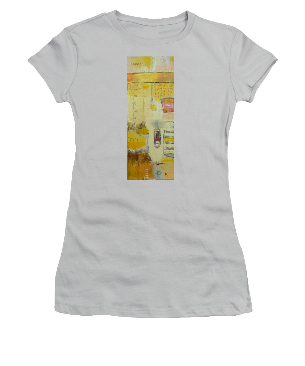 Abstract Women's T-Shirt (Athletic Fit) featuring the painting Abstract Life 1 by Habib Ayat