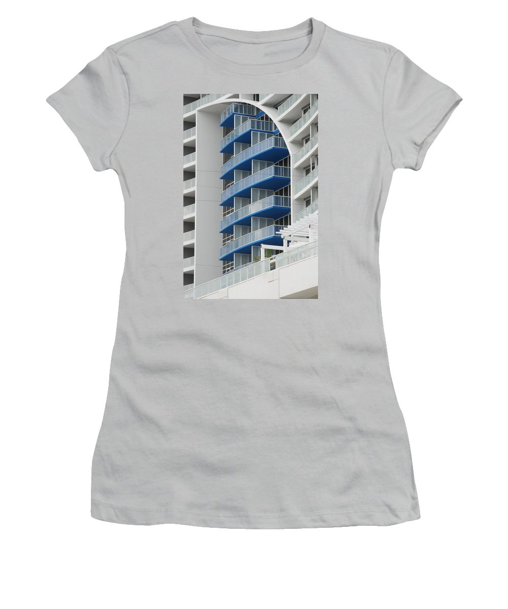 Architecture Women's T-Shirt (Athletic Fit) featuring the photograph Blue Bayu by Rob Hans