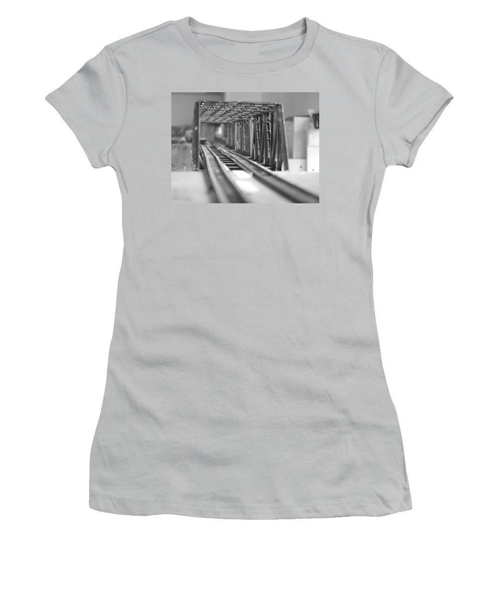 Models Women's T-Shirt (Athletic Fit) featuring the photograph Bridge To Jerry Town by Margaret Fortunato