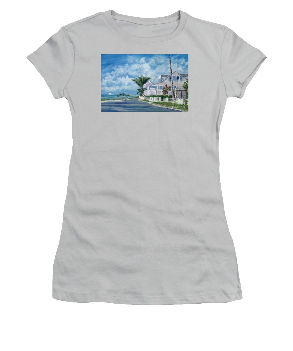 Harbor Island Women's T-Shirt (Athletic Fit) featuring the painting Briland Breeze by Danielle Perry