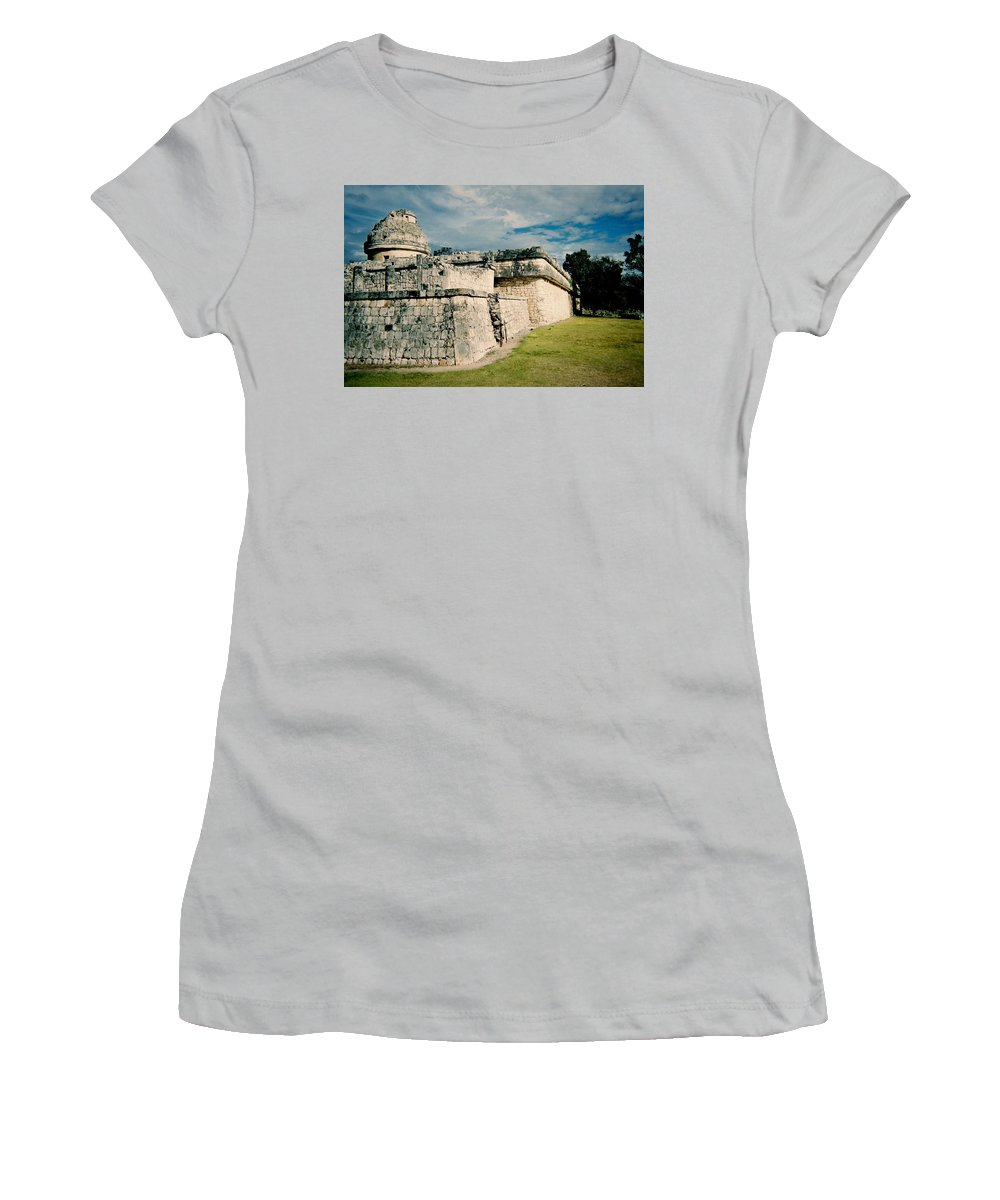 Chitchen Itza Women's T-Shirt (Athletic Fit) featuring the photograph Chichen Itza 1 by Anita Burgermeister