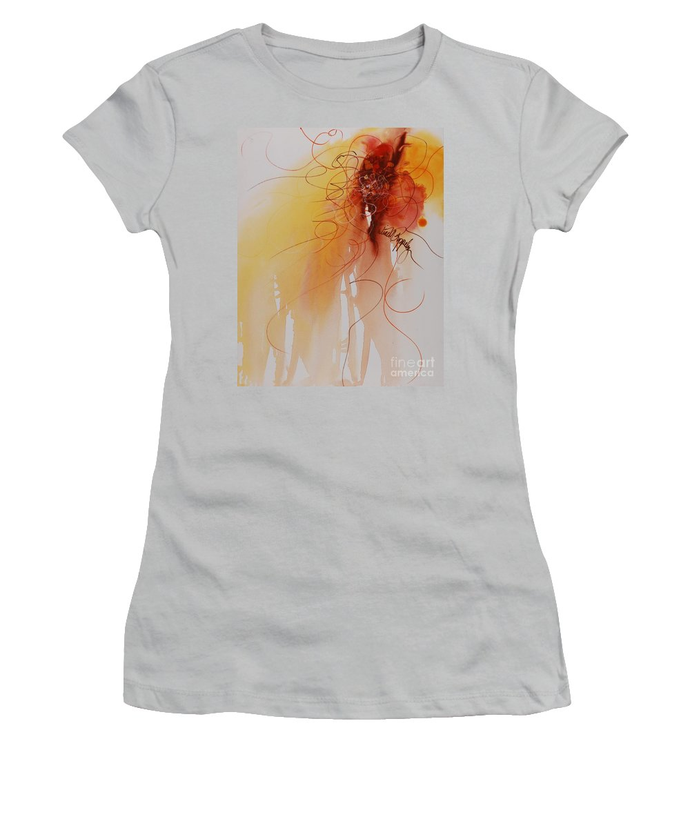 Creativity Women's T-Shirt (Athletic Fit) featuring the painting Creativity by Nadine Rippelmeyer