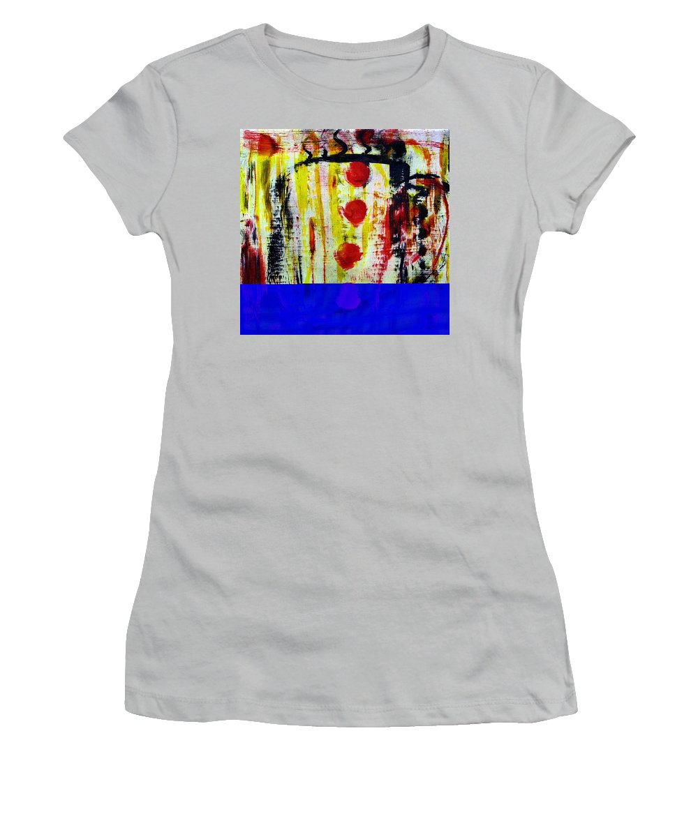 Coffee Women's T-Shirt (Athletic Fit) featuring the painting Cup Of Java by Wayne Potrafka