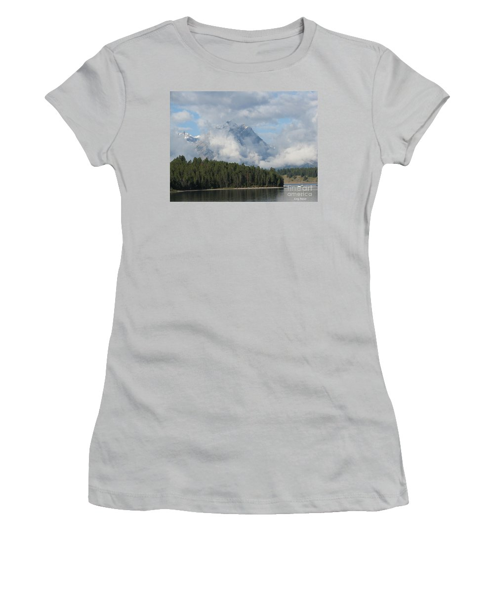 Patzer Women's T-Shirt (Athletic Fit) featuring the photograph Dam Clouds by Greg Patzer
