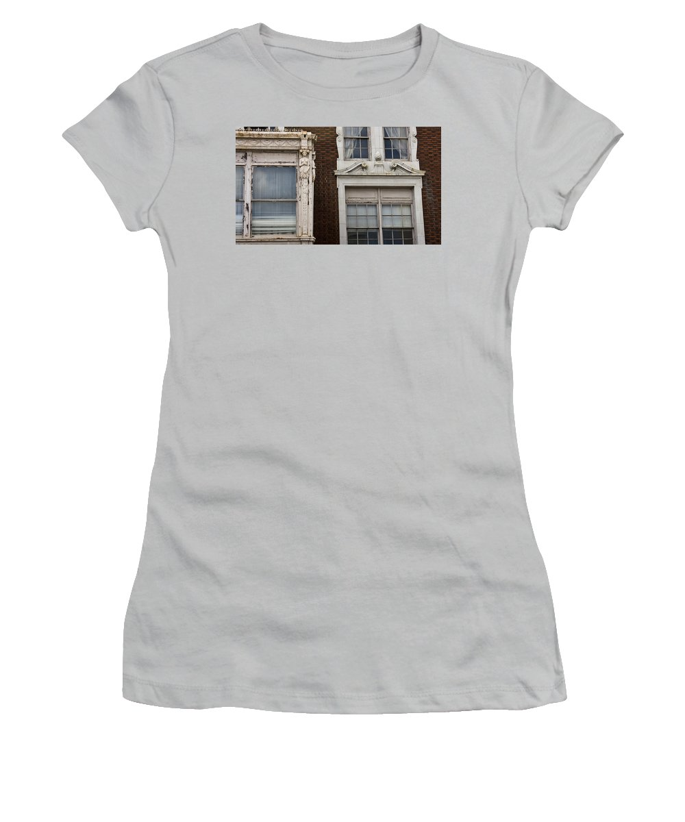 Roanoke Women's T-Shirt (Athletic Fit) featuring the photograph Details Of The Patrick Henry Hotel Roanoke Virginia by Teresa Mucha