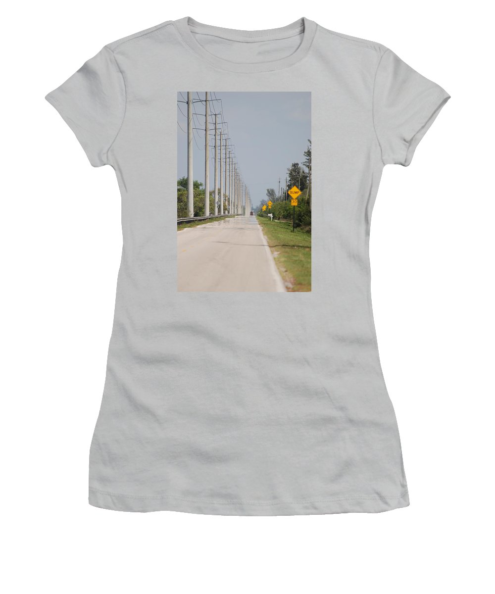 Trees Women's T-Shirt (Athletic Fit) featuring the photograph East Bound And Down by Rob Hans
