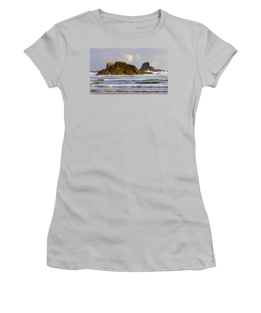 Seastacks Women's T-Shirt (Athletic Fit) featuring the photograph Eye Of The Storm by Mike Dawson