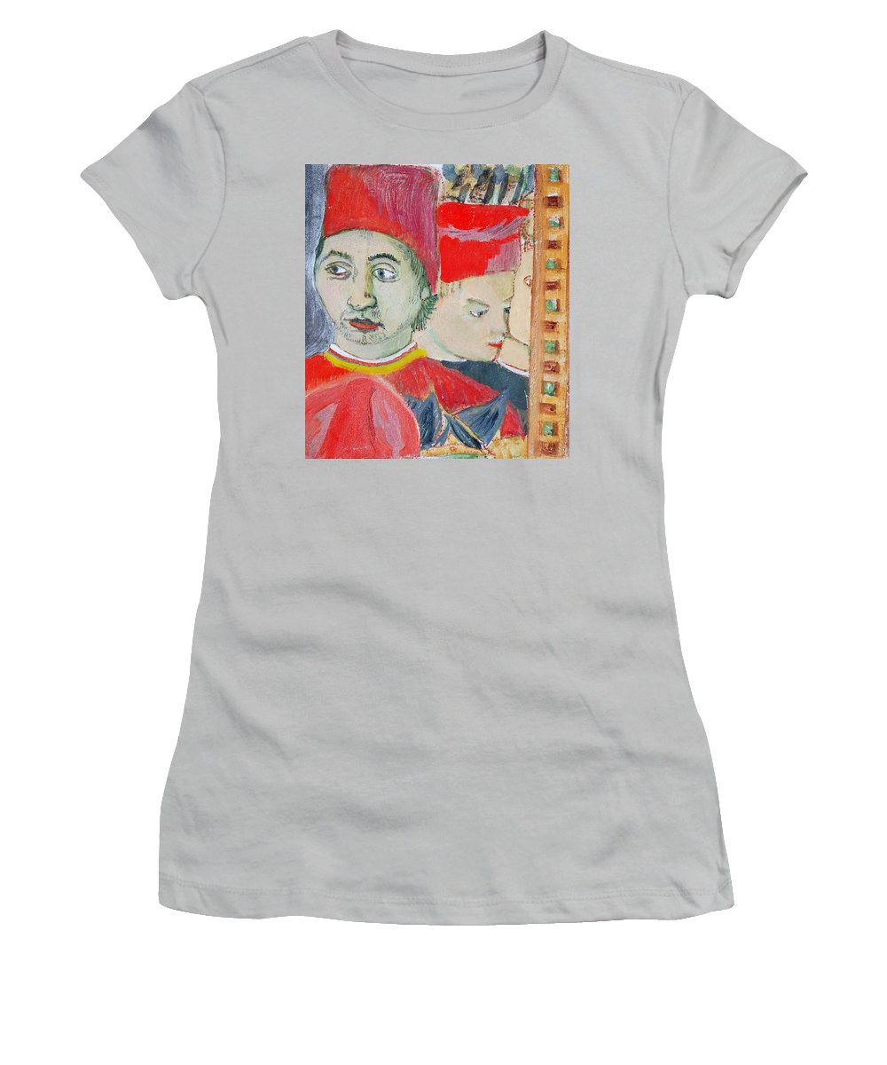 Italian Women's T-Shirt (Athletic Fit) featuring the painting Fratello by Kurt Hausmann