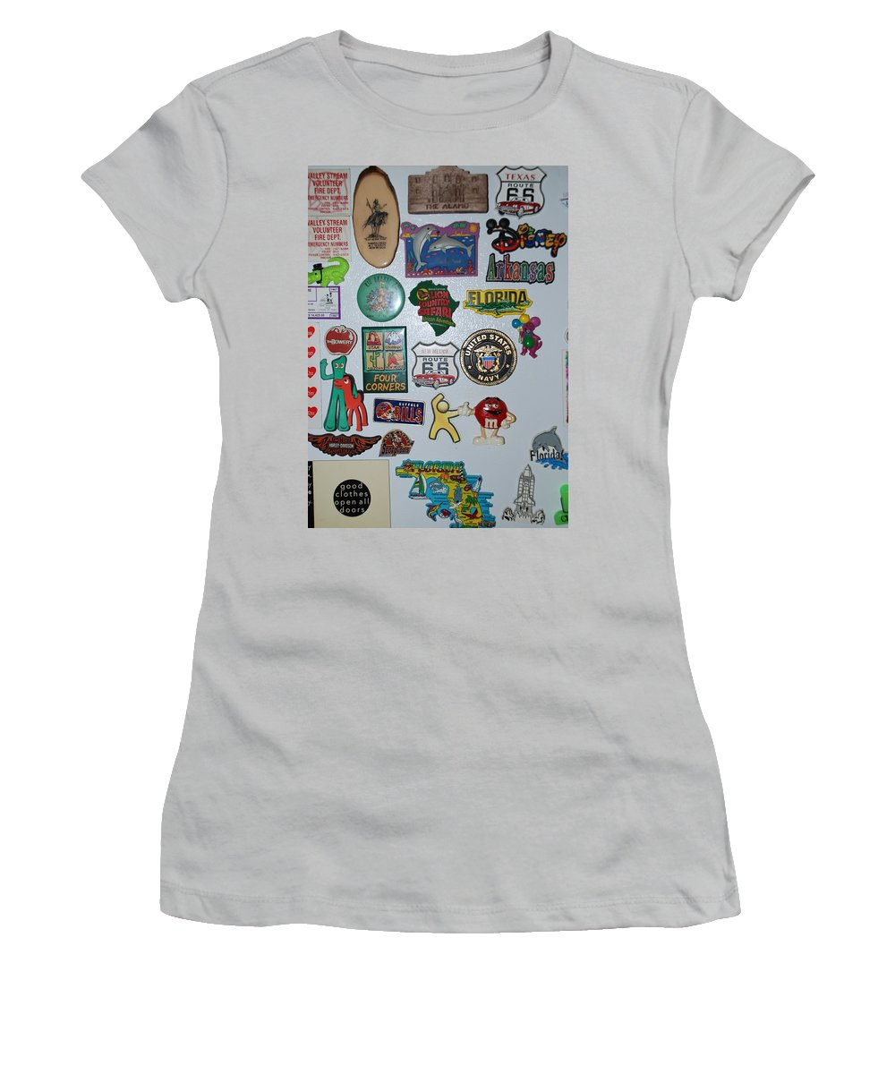 Refrigerator Women's T-Shirt (Athletic Fit) featuring the photograph Fridge Magnets by Rob Hans