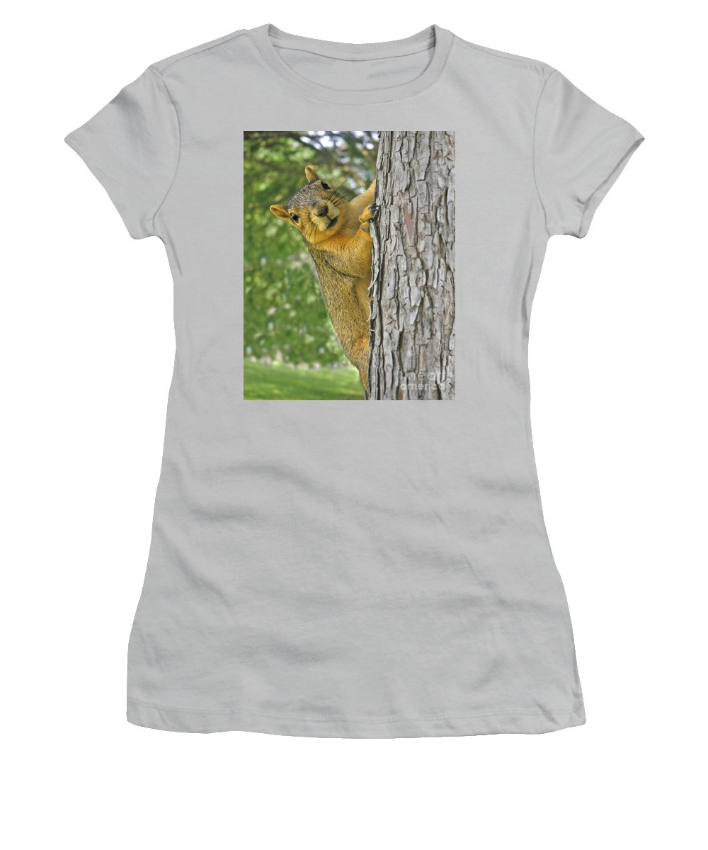 Nature Women's T-Shirt (Athletic Fit) featuring the photograph Good Morning by Lucyna A M Green