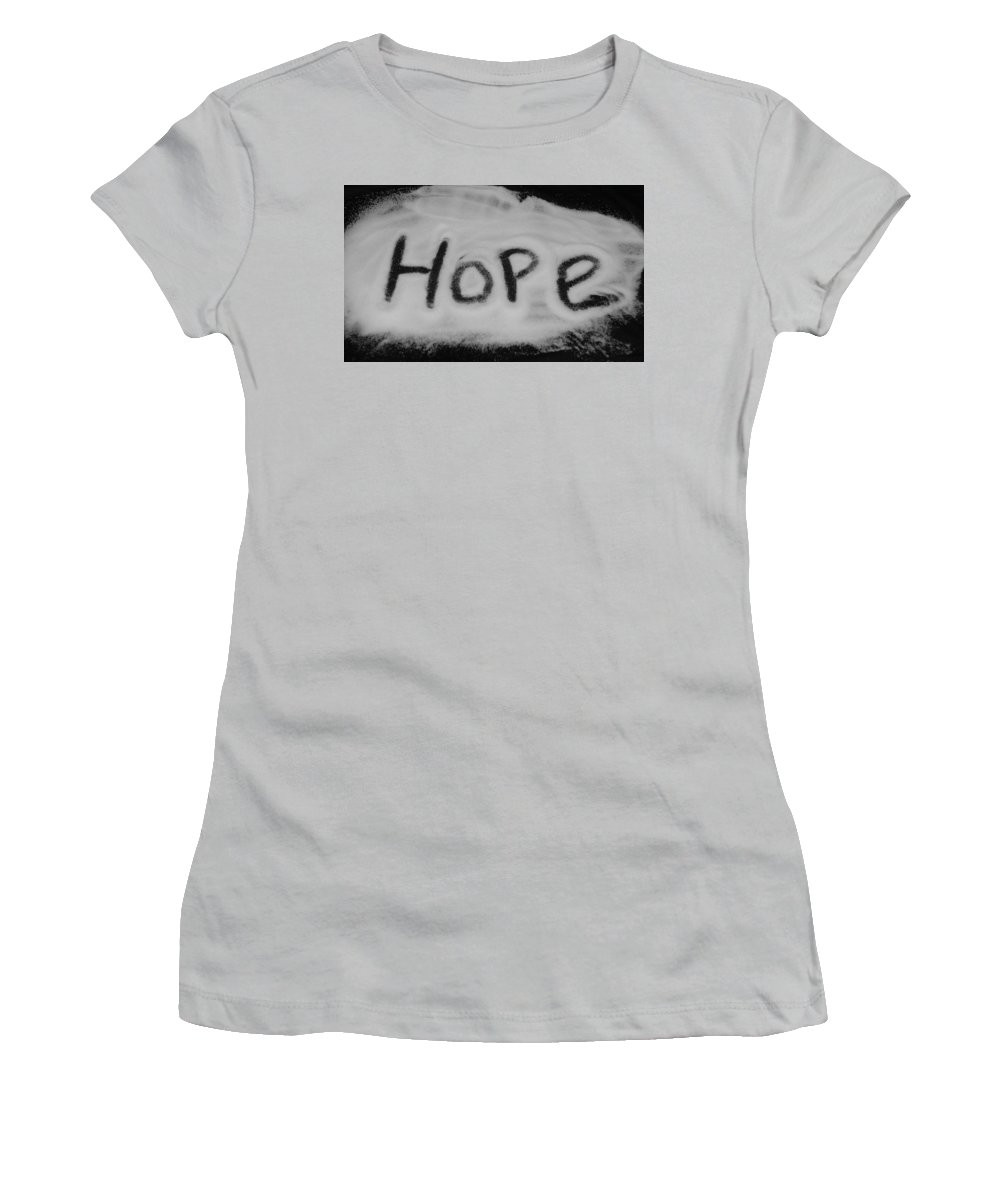Black And White Women's T-Shirt (Athletic Fit) featuring the photograph Hope by Rob Hans