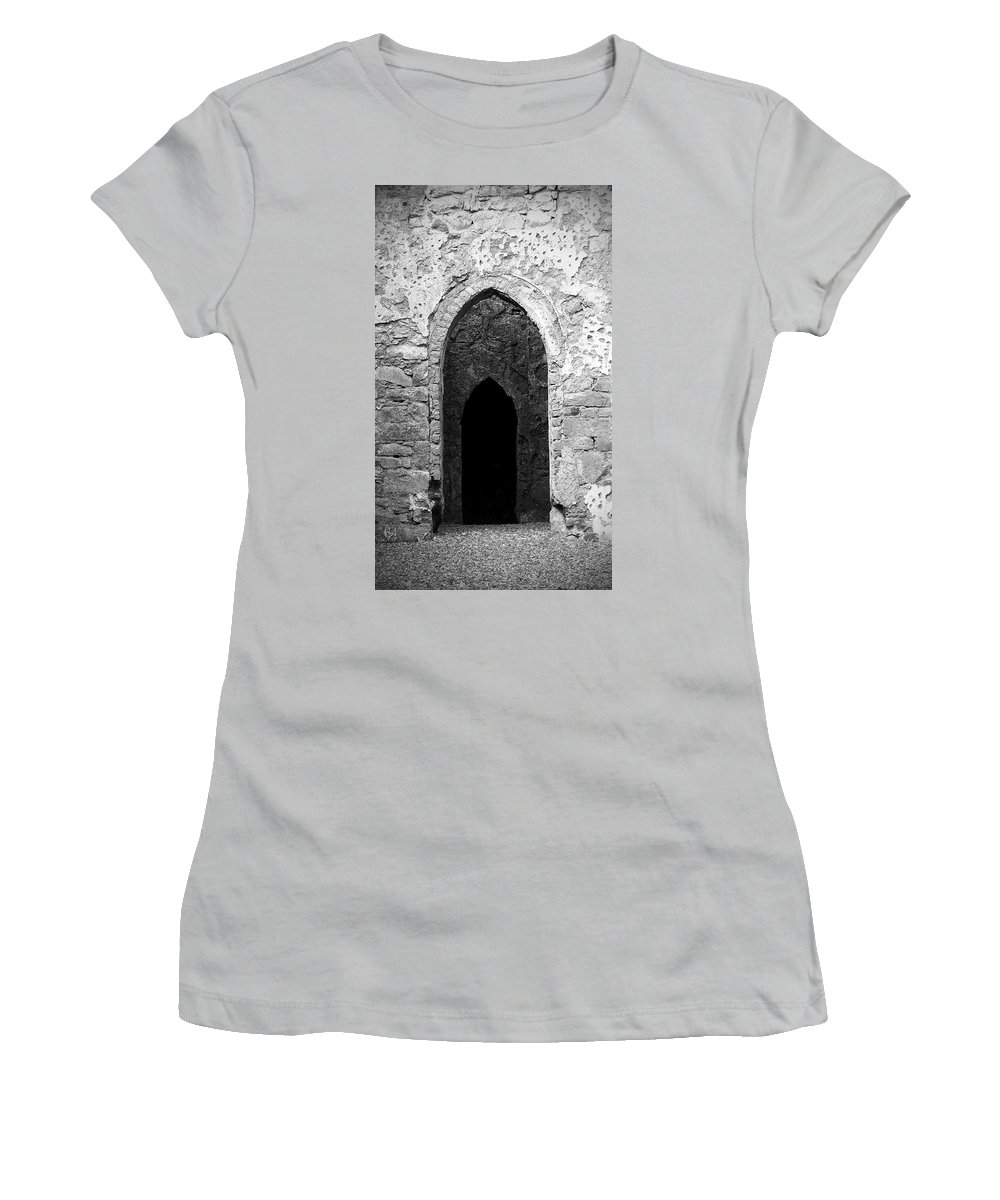 Ireland Women's T-Shirt (Athletic Fit) featuring the photograph Inner Sanctum Fuerty Church Roscommon Ireland by Teresa Mucha