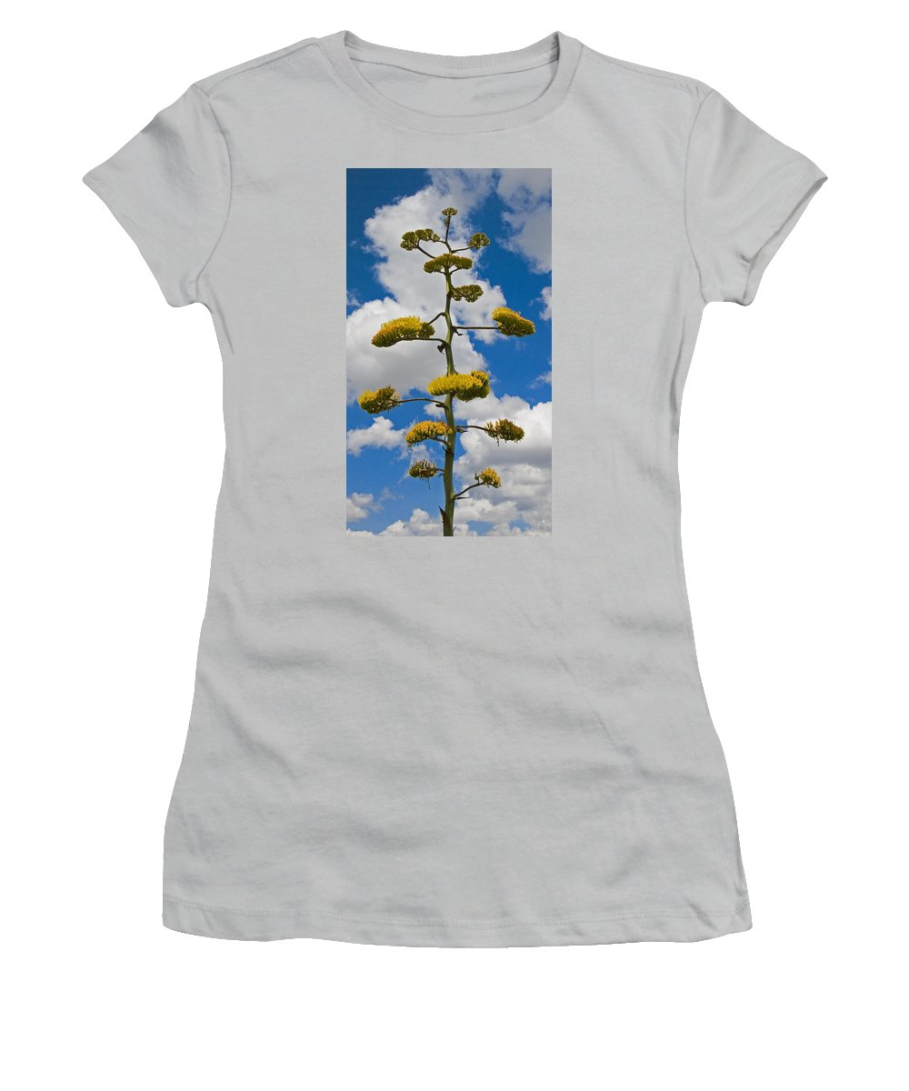 Blue Women's T-Shirt (Athletic Fit) featuring the photograph Jacobs Ladder by Skip Hunt