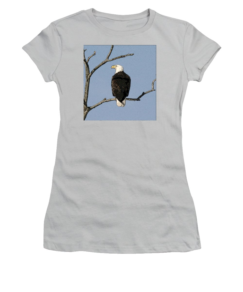 Eagle Women's T-Shirt (Athletic Fit) featuring the photograph Look Out by Robert Pearson