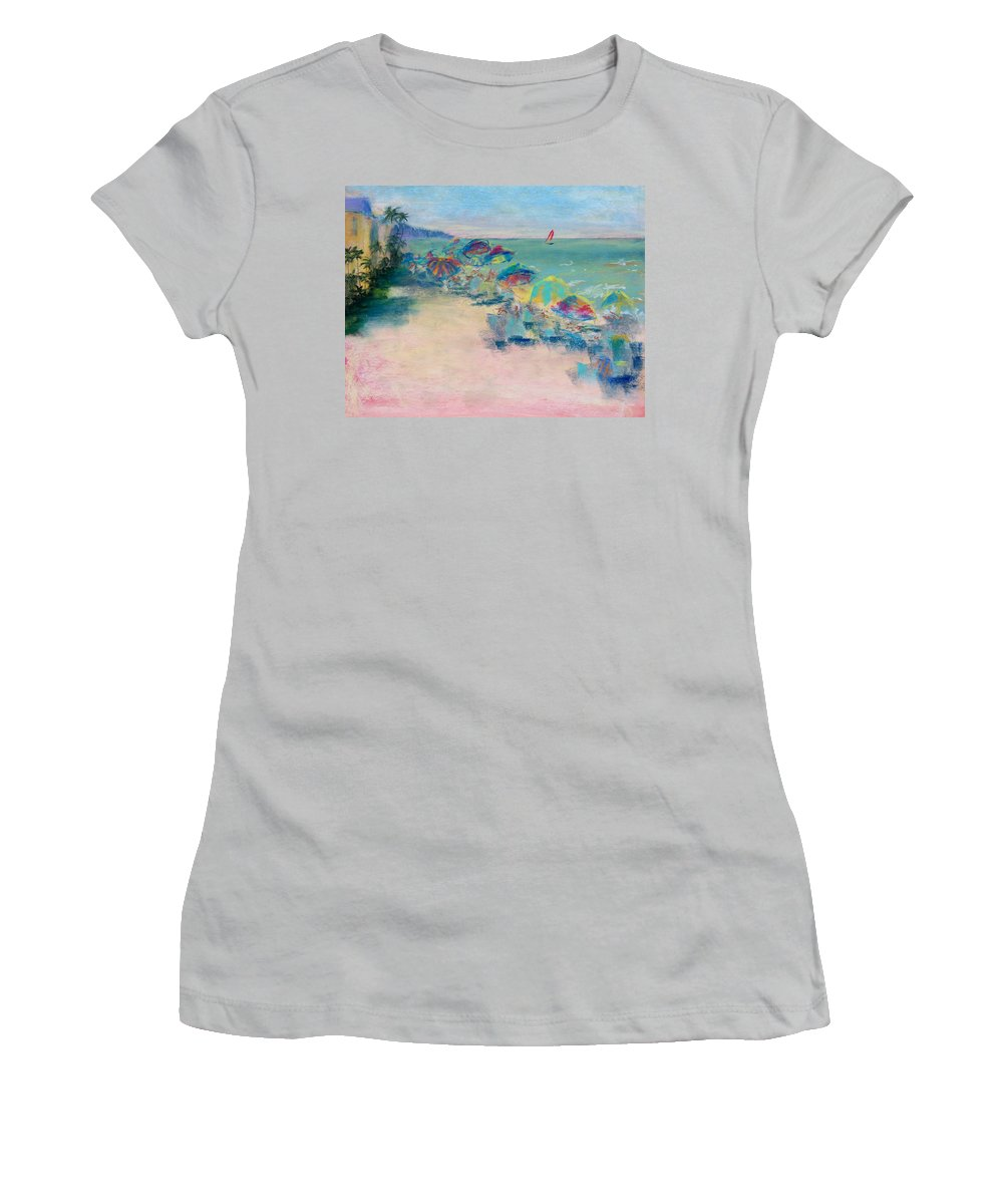 Lowdermilk Park Women's T-Shirt (Athletic Fit) featuring the painting Lowdermilk Park by Laurie Paci