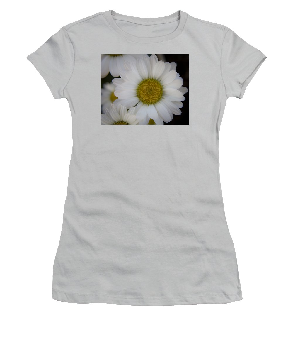 Marguerite Women's T-Shirt (Athletic Fit) featuring the photograph Marguerite Daisies by Teresa Mucha