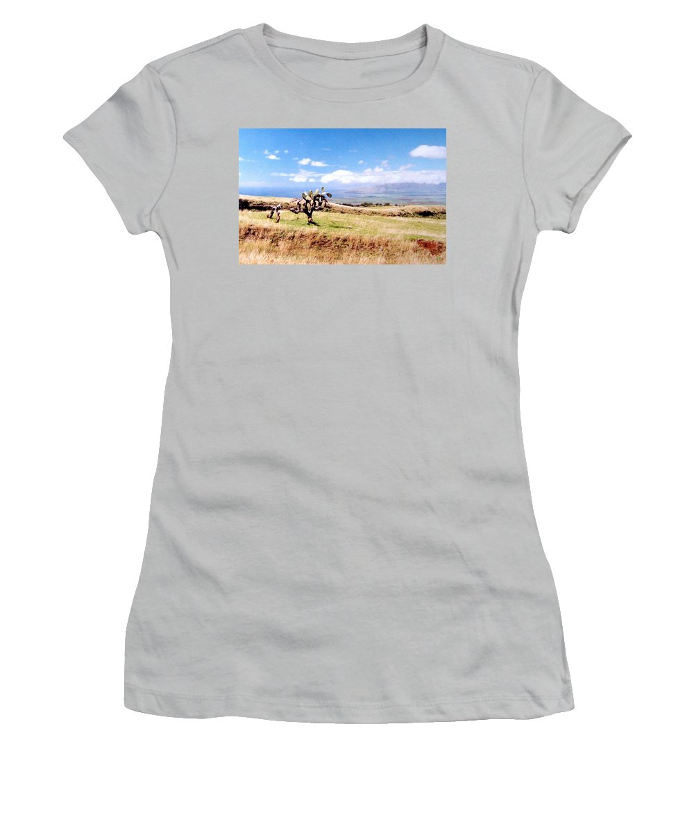 1986 Women's T-Shirt (Athletic Fit) featuring the photograph Maui Upcountry by Will Borden