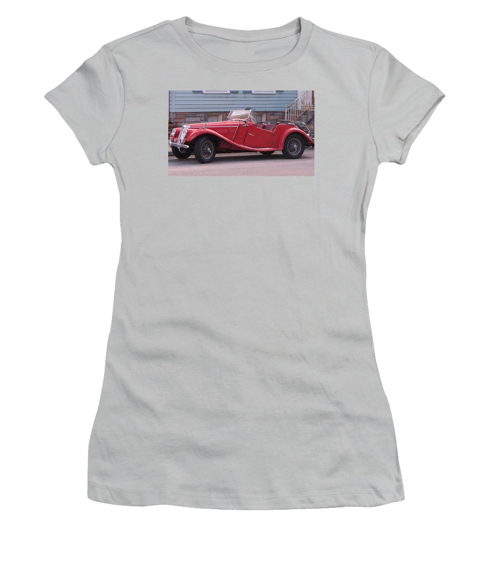 Mg Women's T-Shirt (Athletic Fit) featuring the painting MG by Eric Schiabor