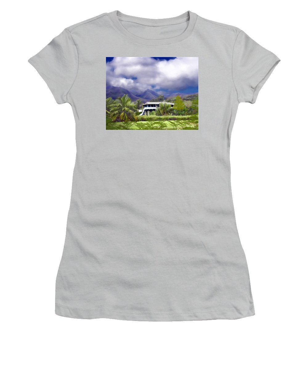 Hawaii Women's T-Shirt (Athletic Fit) featuring the photograph Moloa A Bay Hideaway by Kurt Van Wagner