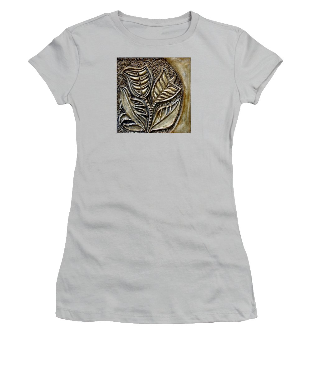 Vintaje Women's T-Shirt (Athletic Fit) featuring the relief Vintaje Tile With Calas by Madalena Lobao-Tello