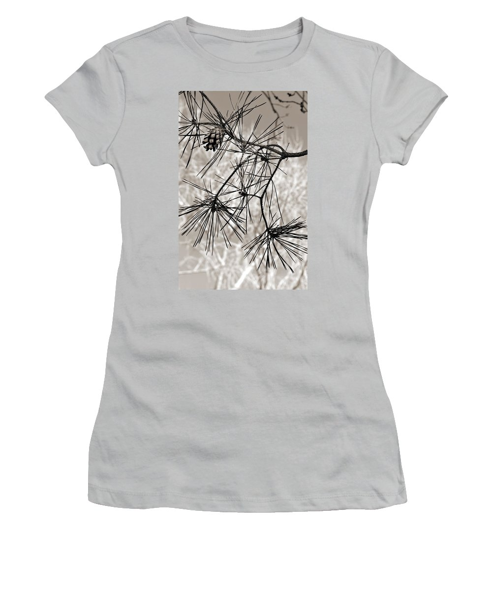 Tree Women's T-Shirt (Athletic Fit) featuring the photograph Needles Everywhere by Marilyn Hunt