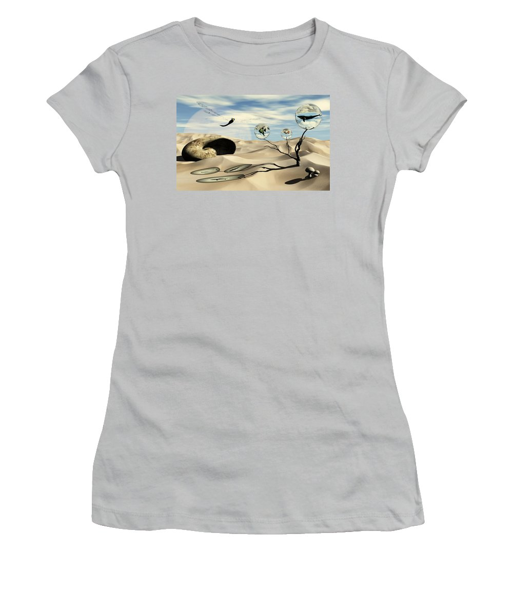 Surrealism Women's T-Shirt (Athletic Fit) featuring the digital art Observations by Richard Rizzo